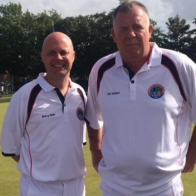 Photo of Eck Wilson and Barry Main at National Finals in Ayr